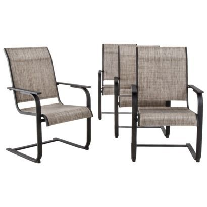 Threshold Linden 4 Piece Sling Patio Motion Dining Chair Set At Target 219 Porch