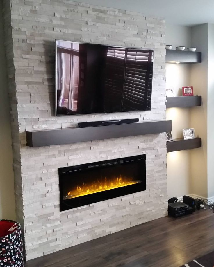 Top 25+ best Stone electric fireplace ideas on Pinterest