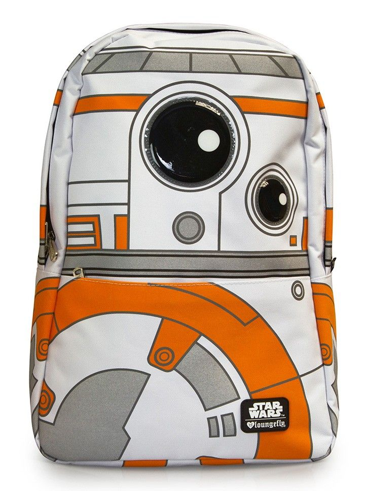 """""""Star Wars BB-8"""" Backpack by Loungefly (White/Orange)"""