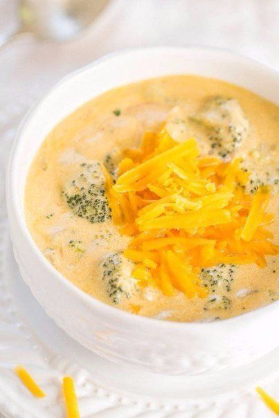 Soup with broccoli and cheese
