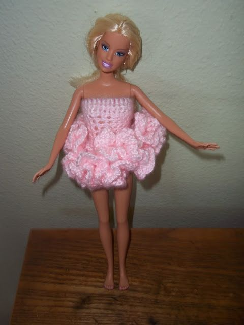 How to crochet a ballerina tutu for a barbie size doll