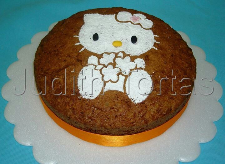 Carrot cake. Hello Kitty