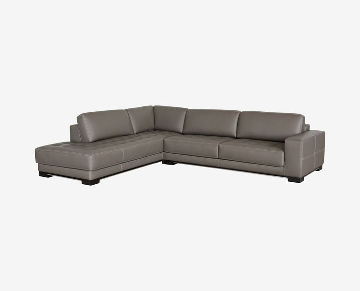ANDREAS LEATHER SECTIONAL LEFT SEATED