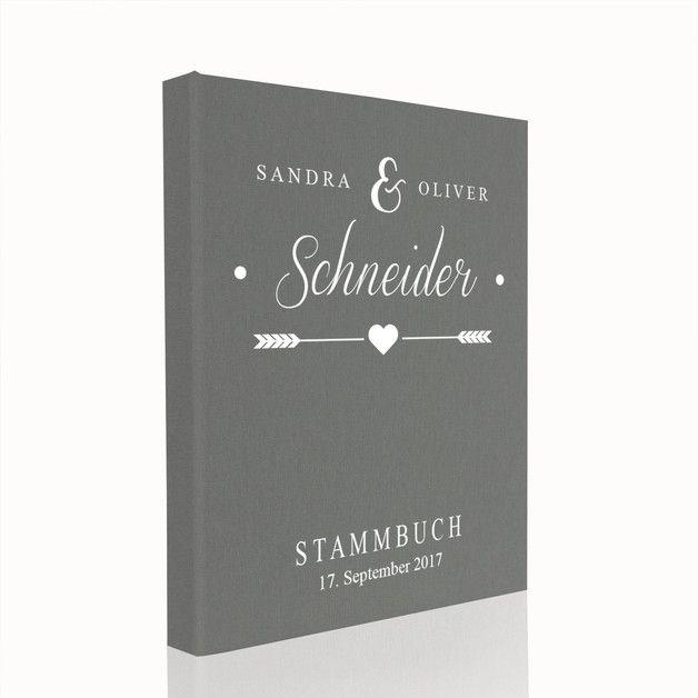 Sie suchen ein tolles Stammbuch aber ohne Schnickschnack? Wir möchten Ihnen, ein elegantes Stammbuch anbieten. Die Oberfläche des Stammbuches ist mit grauem, hochwertigem Buchbinderleinen bezogen....