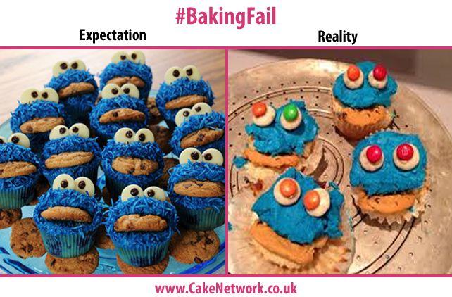 Cookie Monster Cupcakes - Failed  #Fail #NailedIt