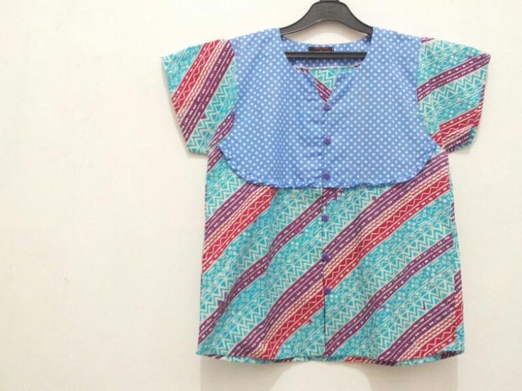 batik simple blouse