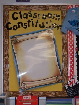 Classroom Constitution - Idea for Constitution Day