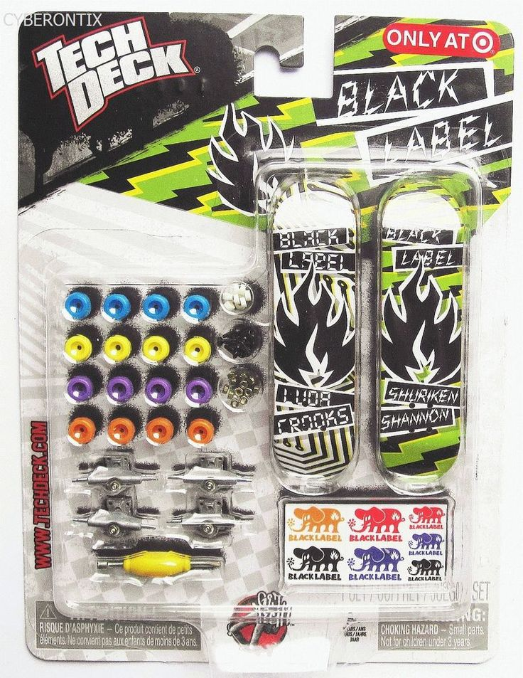 Tech Deck BLACK LABEL Mini Sk8 Shop Target Exclusive 2011 Boards Trucks NEW MIP #SpinMaster