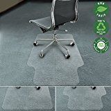 #ad Office Marshal Chair Mat for Carpet with Lip | Eco-Friendly Series Chair Floor Protector | 100% Recycled (PET) Floor Mat for Office or Home Use | Multiple Sizes | Translucent - 30'' x 48''  Office Marshal Eco-Series Chair Mat with Lip for Carpet Floors (100% Recycled)     Protect your home or office carpet floor from daily wear and tear caused by chair casters and legs with our Office Marshal eco-friendly PET mat. Made from 100% PET (a form of polyester which is made from recycle..
