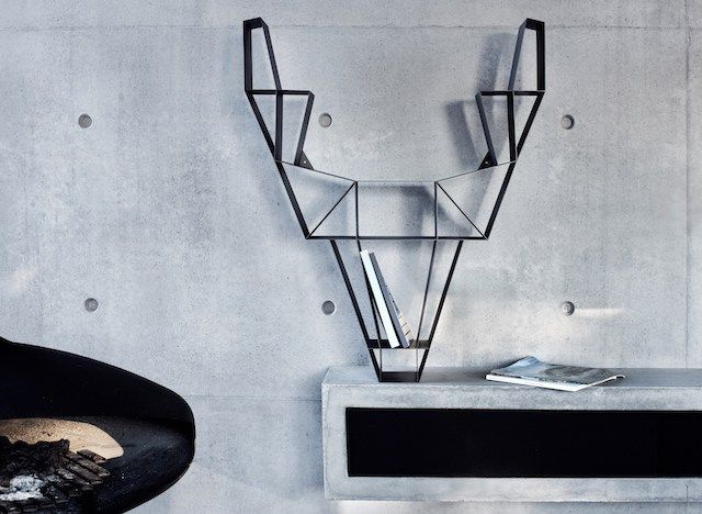 BEdesign |Deer shelf| metal |charcoal black