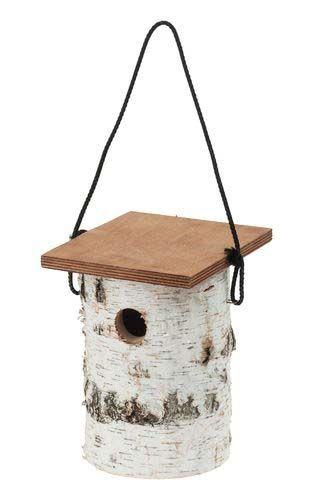 Kreatívne materiály / Ceruzky, kriedy, drevený polotovar | Drevené vtáčie búdky | Vtáčia búdka z brezy, 1 ks