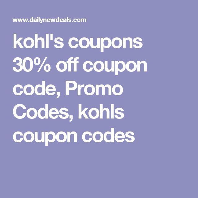 Best 25 kohls store ideas on pinterest kohls kohls discount kohls coupons 30 off coupon code promo codes kohls coupon codes fandeluxe Choice Image