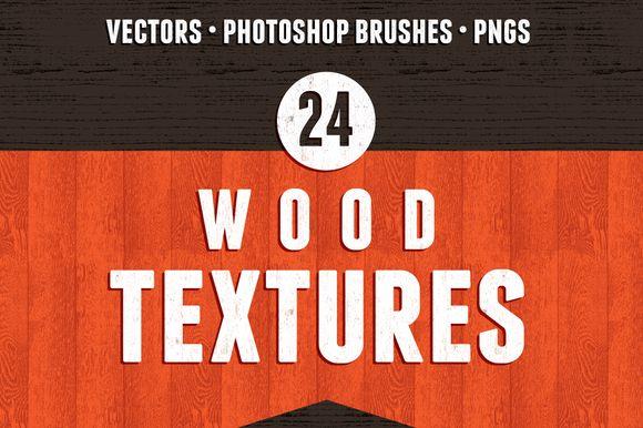 24 Seamless Wood Textures