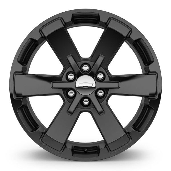 Personalize your 2014-15 Silverado 1500 with these Black 6 Spoke 22-Inch GM Accessory Wheels.