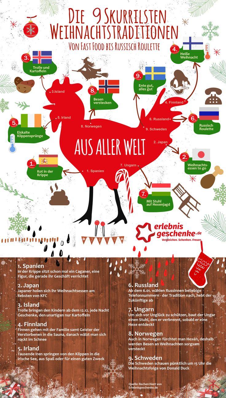 Infografik-Skurrile Weihnachtstraditionen