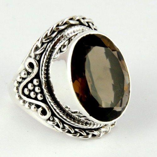 Love At First Sight Smoky Quartz 925 Sterling Silver RingARCT1126-3 #Handmade