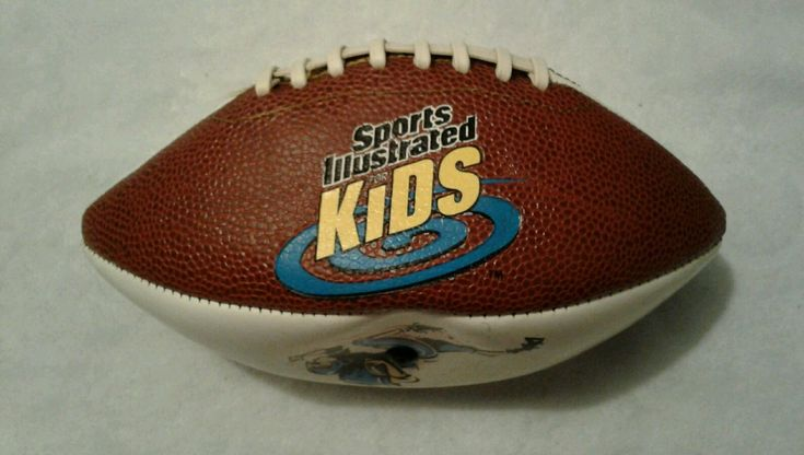 SPORTS ILLUSTRATED KIDS- 9  FOOTBALL  BROWN & WHITE