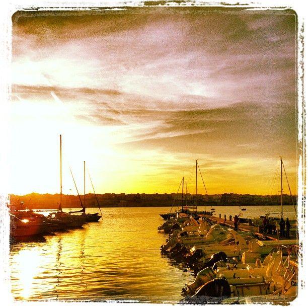 il porto di Otranto al tramonto...