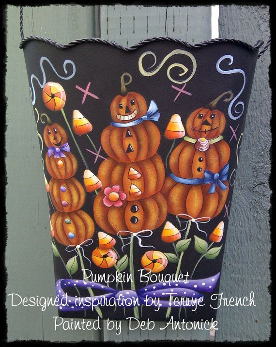EPattern  Pumpkin Bouquet by PaintingwithDeb on Etsy
