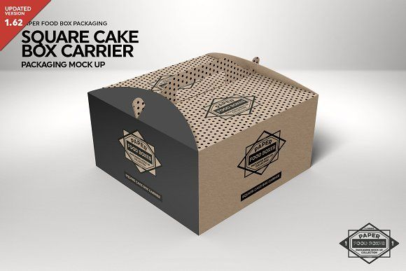 Download Square Cake Carrier Packaging Mockup Free Packaging Mockup Design Mockup Free Packaging Mockup