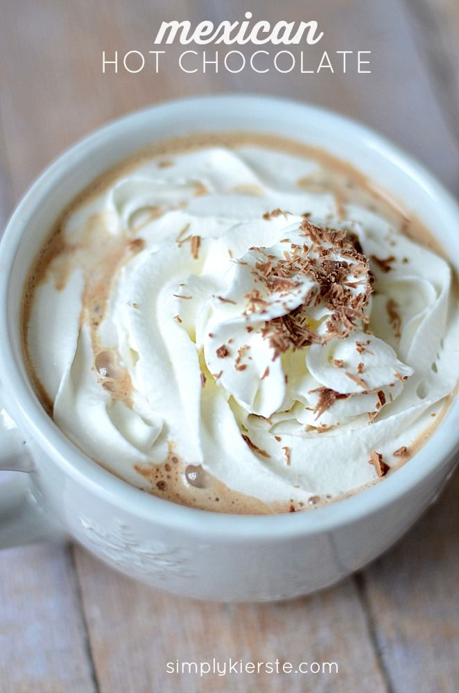 Chocolate + Cinnamon + Nutmeg = Mexican Hot Chocolate! SO easy, so delicious!