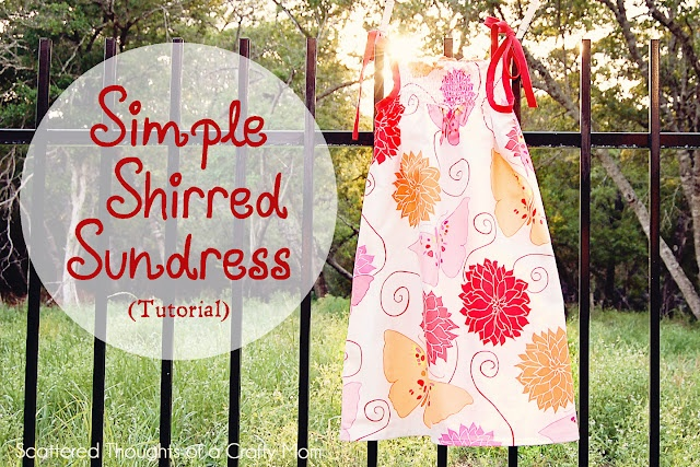 simple shirred sundress: Cute Sundresses, Crafty Mom, Shirred Sundresses, Sewing Projects, Simple Shirred, Cute Dresses, Kids Clothing, Sewing Machine, Sundresses Tutorials