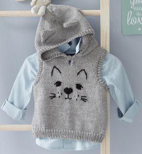 Modèle pull à capuche chat Lay | <br/>    Baby