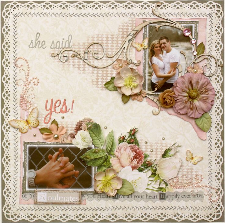 """She Said Yes! **Webster's Pages ~ In Love"""" - Scrapbook.com"""