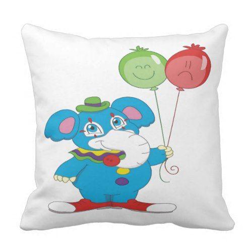 Party Elephant Throw Pillow