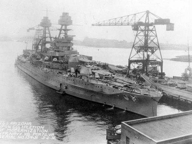 USS Arizona: Before Pearl Harbor, the mightiest ship at sea