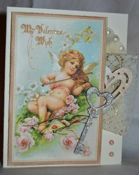 Vintage Inspired Valentine's Card