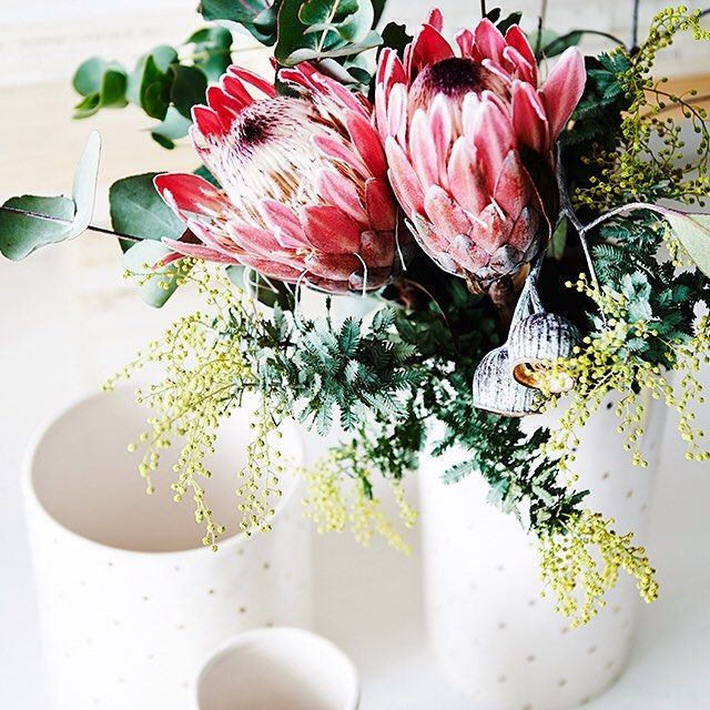 A beautiful vase filled with fresh flowers will never fail to impress!
