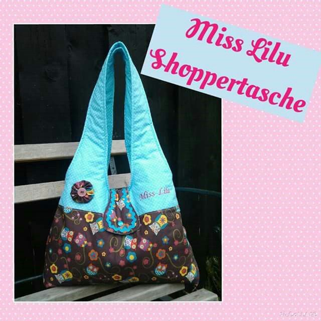 Miss Lilu Shoppertasche von  Handmade  by  Miss  Lilu,  Shoppertasche Ebook, Schultertasche, Eulen, Nähen