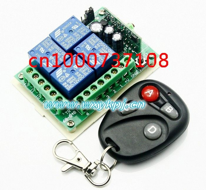 14.15$  Watch here - http://alix48.shopchina.info/go.php?t=32232593568 - NEW 12V 10A 4CH RF Wireless Remote Control System wireless light switch / Electronics lock 14.15$ #magazineonline