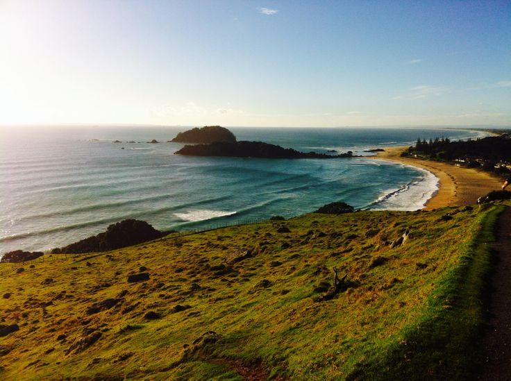 On the downward slope. Mt Maunganui.