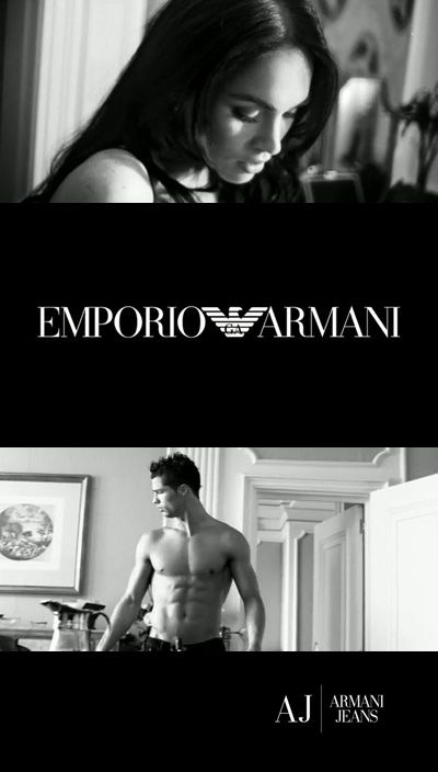 We offer you two hot video advertising Armani Jeans. These videos are not simple, and almost golden, because they starred Megan Fox (Megan Fox) and Cristiano Ronaldo (Cristiano Ronaldo). The effect of both rollers are in hotel rooms with the passive participation of staff.