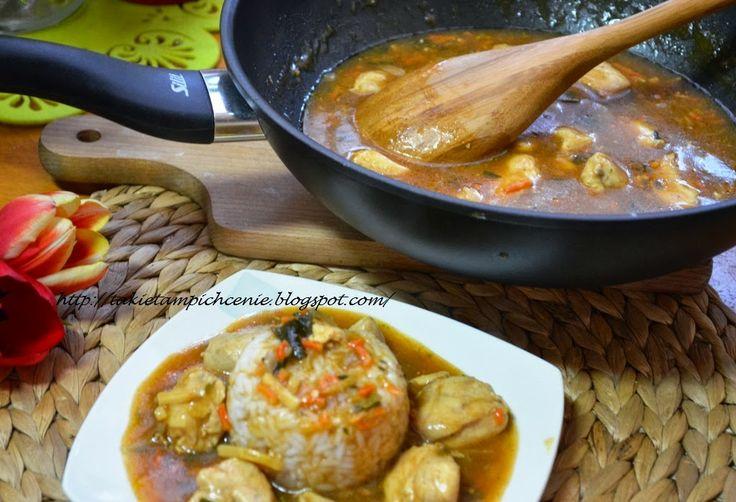 Smak, zapach, kolor, tradycja z nutką nowoczesności...: Wok Silit Macao i kurczak w pięciu smakach po chiń...