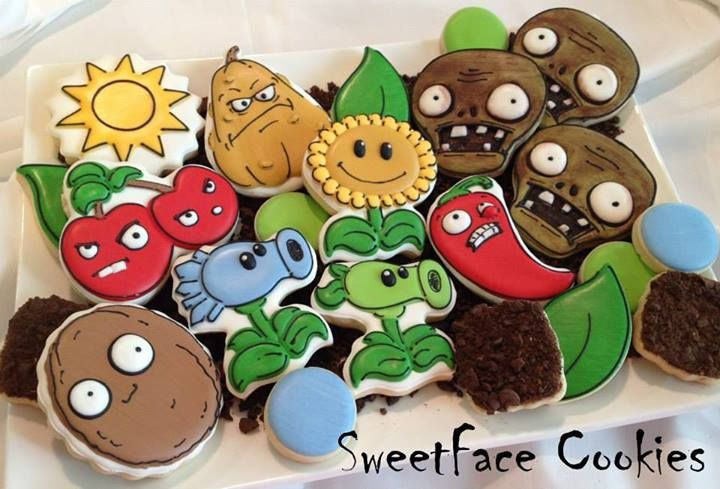 Plants vs Zombies cookies