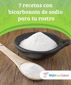7 recetas con bicarbonato de sodio para tu #rostro Gracias a la textura y a las #propiedades del #bicarbonato de sodio podemos combinarlo con múltiples ingredientes e incluirlo en diferentes recetas de belleza para cuidar de nuestra #piel #Belleza