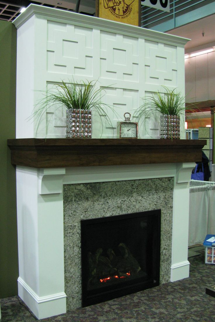 Inserts fireplace accessories new york by bowden s fireside - Kozy Heat Gas Fireplace Granite Surround Custom Built Walnut Mantel With White Painted Corbels