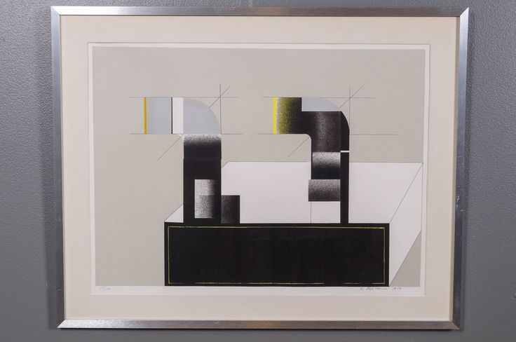 Reino Hietanen, 1980, litografia, 56x76 cm, edition 15/100 - Huutokauppa Helander 06/2015