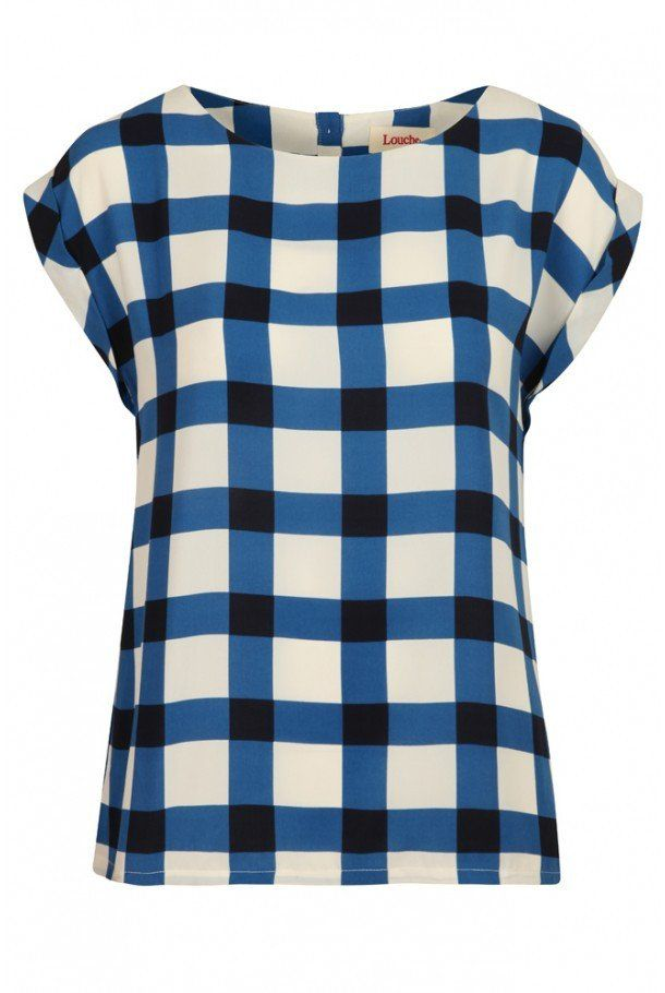 Checked White/Blue Top