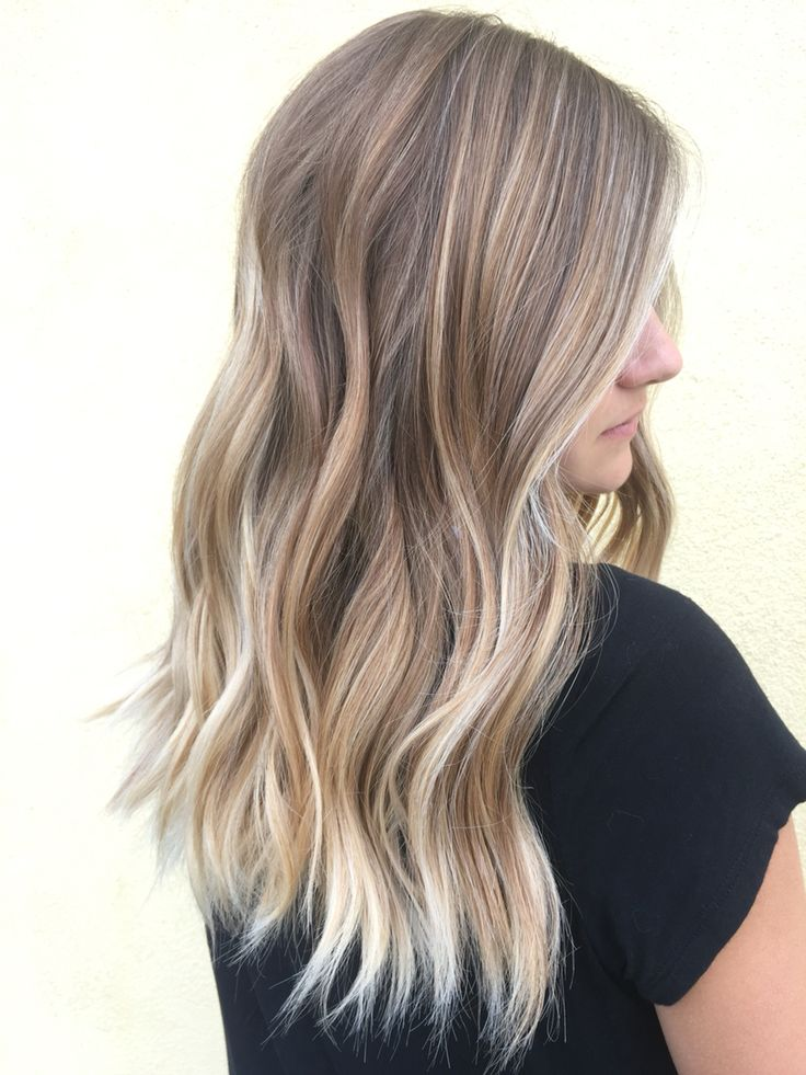 Sombrè blonde highlights