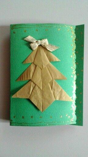 Biglietto natalizio origami