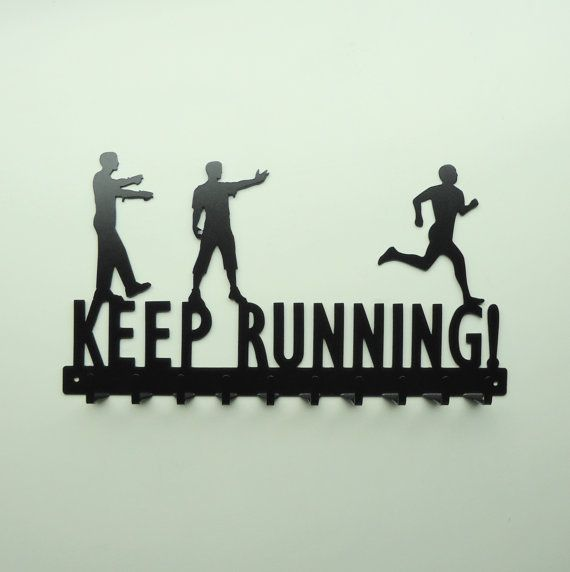 Keep Running Zombies and Running Man Medals Rack - Free USA Shipping. @Nikkie Gaytan