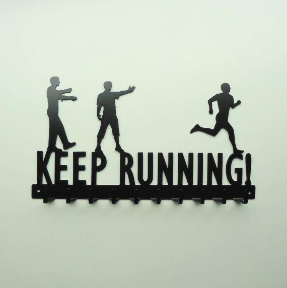 Keep Running Zombies and Running Man Medals Rack - Free USA Shipping. @Nikkie Gaytan