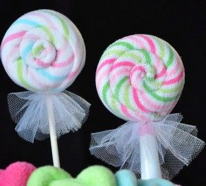 how to make Lollipop Washcloths for Your next Baby Shower!
