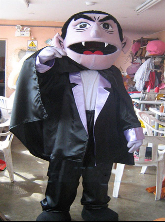 Adult Sesame Street The Count Von Count Costume Suit Dress Cosplay Dress Outfit