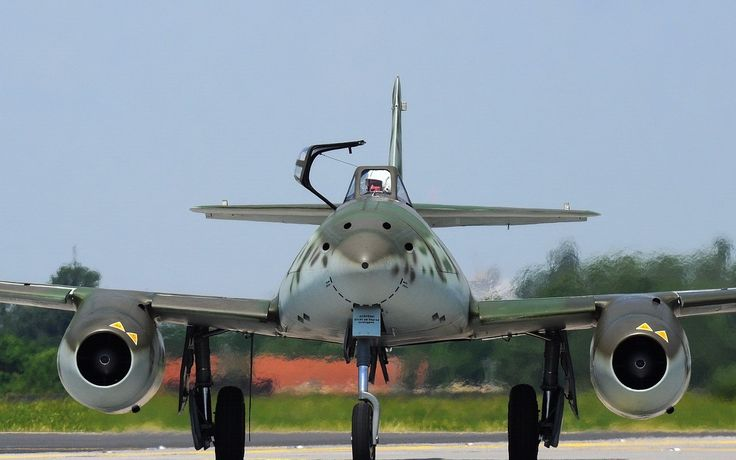 Messerschmitt Me 262 'Schwalbe' German for Swallow. The first production jet aircraft produced near the end of WW2.
