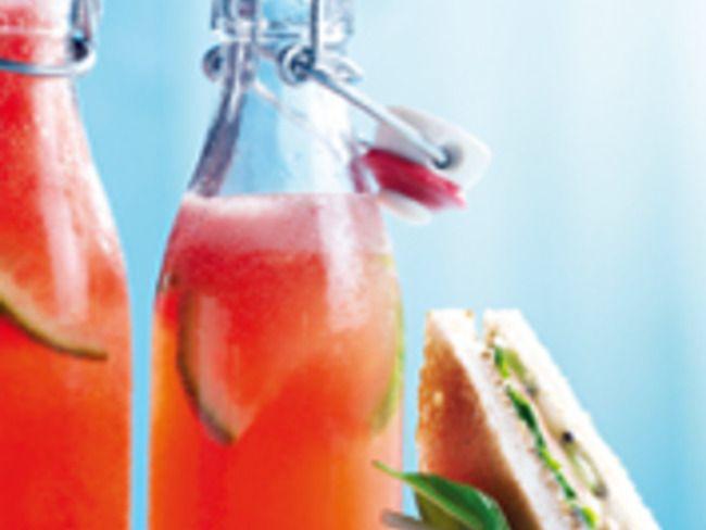 Limonade glacée pastèque-gingembre et son club italien